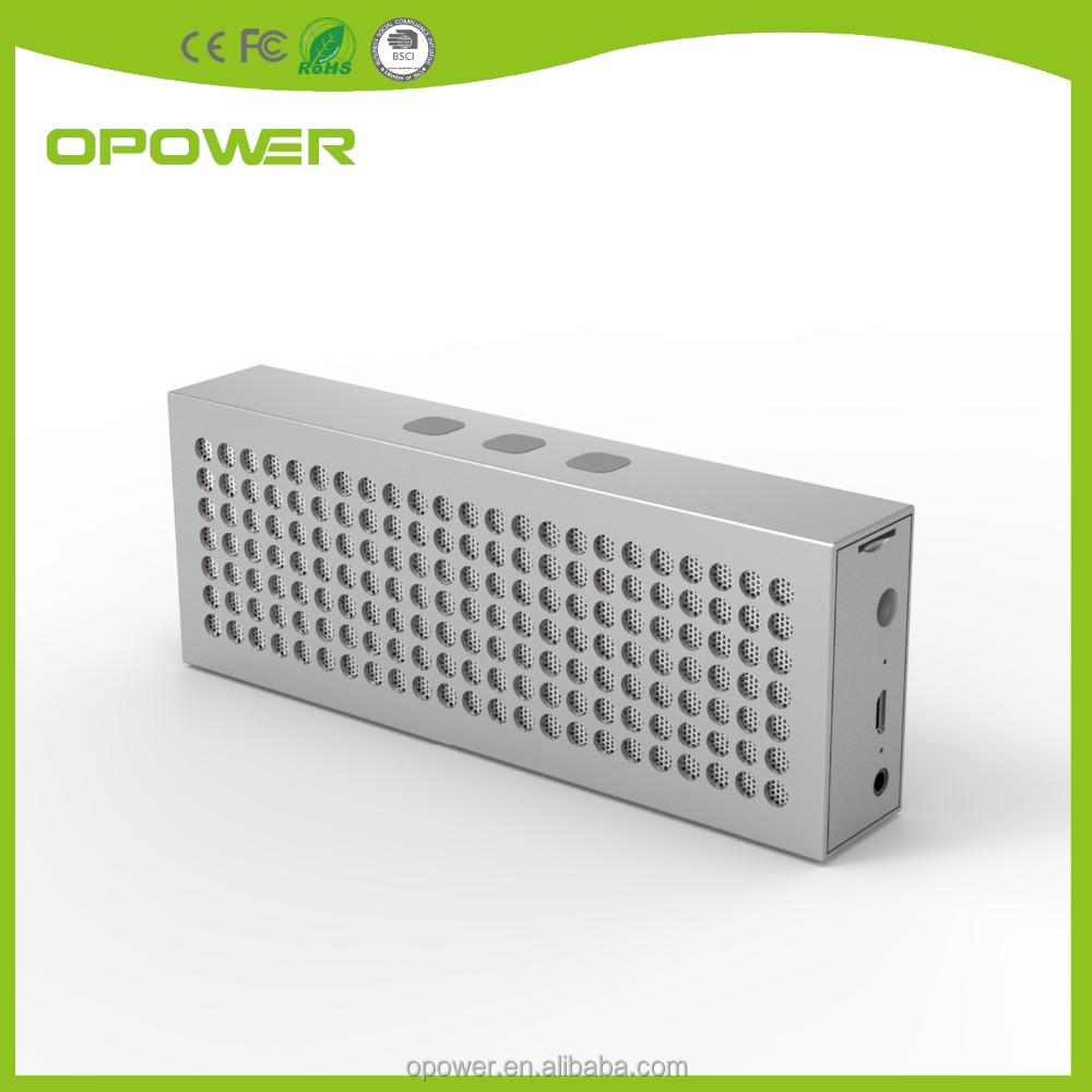 OEM regular holes Shining Metal housing speaker Bluetooth waterproof speaker USB charging for outside