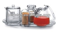 acryl Condiment set with holder 6-pcs