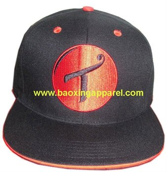 closed back high profile sandwich flat bill fitted baseball caps hats