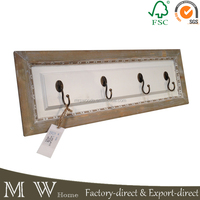 home decorative wood wall hook hanger for clothes, wholesale vintage wall chic hooks, shabby chic hooks