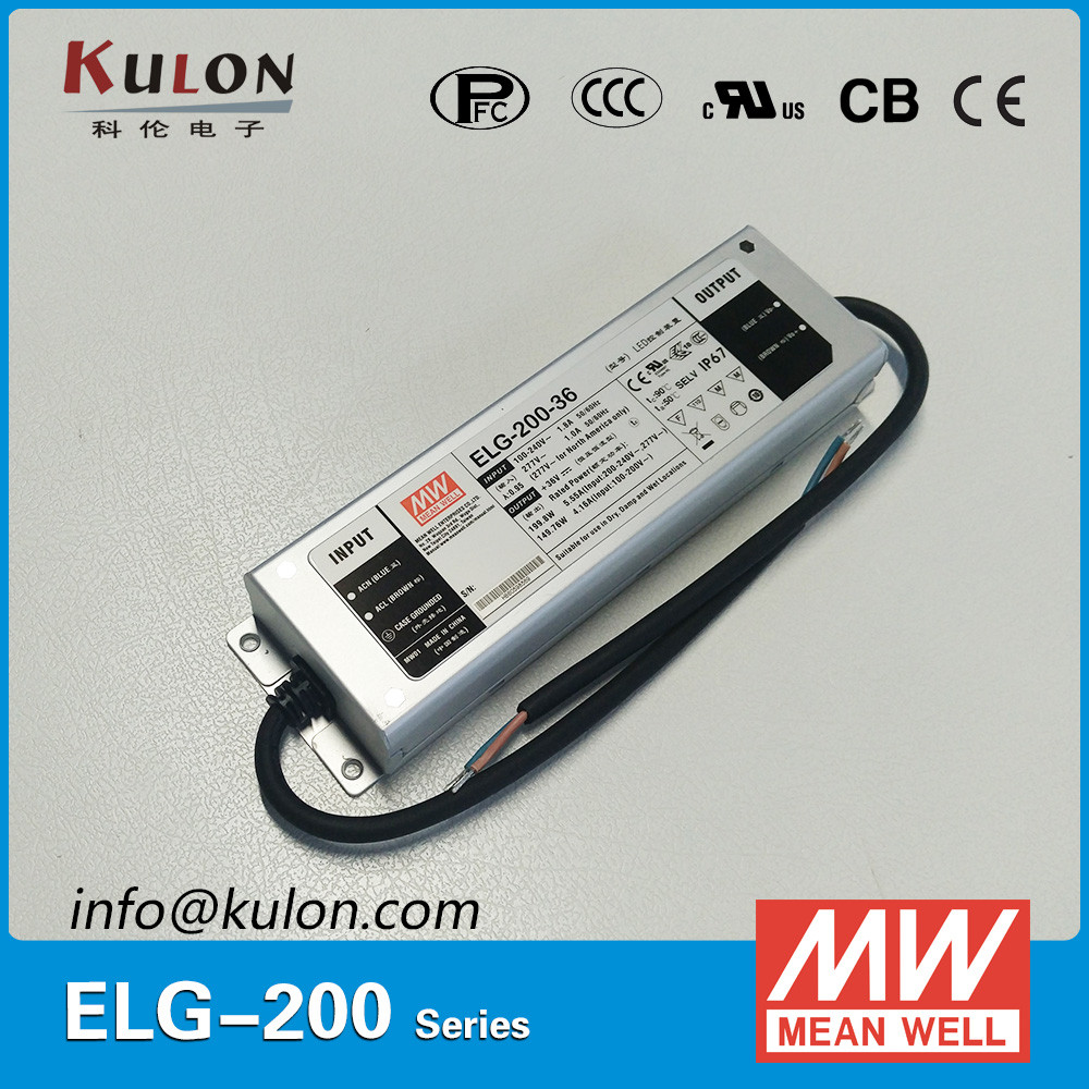 MEAN WELL ELG-<strong>200</strong>-C700 200w 700mA constant 0-10v current dimmable led driver