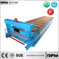 c8 corrugated metal roof sheet roll forming machine / roof sheet making machine hot sale 2015