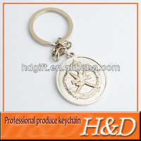 silver trolley coin keyring with engraved logo