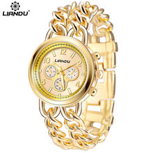 Lady's watch Fashion Casual Luxury Women's Stainless Steel double Chain Quartz Wrist Watches