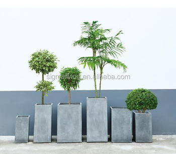 Wholesale cheap planters outdoor garden cube flower pot magnesium mud pot