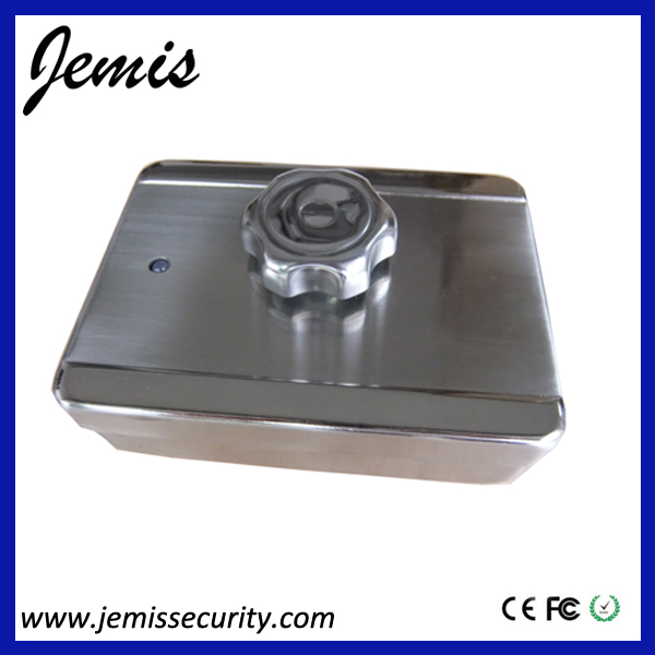 Nice design single latch fingerprint electronic door chain lock alarm JM-ECL01