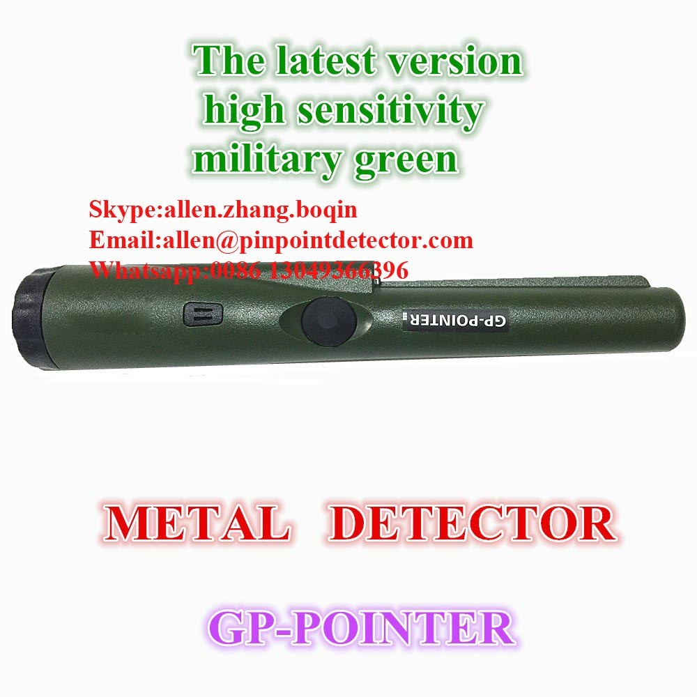 Pinpoint factory handheld Pinpointing Waterproof Metal Detector 360 degree side scan detection