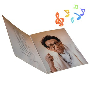 High quality 20ec voice recording greeting card 30sec voice recording postcards
