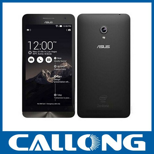 "Original ZenFone 6 Mobile Phone 6.0"" Intel Atom Z2580 Android 4.3 cellphone 2GB RAM 16GB ROM 3G GPS"