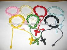 fashion cross knot decenarios bracelet with color beads, new design decenarios bracelets