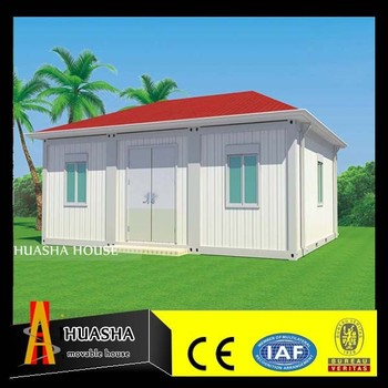 Mobile Living House Luxury Container 4 side Sloping Roofing for sale