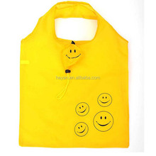 Custom unique smile reusable foldabel grocery shopping bags