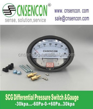 High quality Magnehelic Air Low Differential Pressure Gauge SCG 0-750Pa