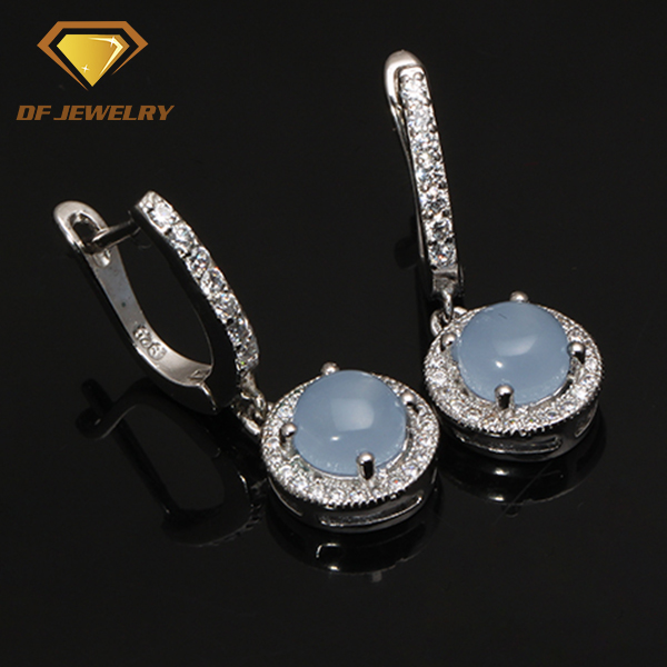 Top quality latest wholesale 18k platinum plated silver jewelry sets white cubic zirconia jewelry set