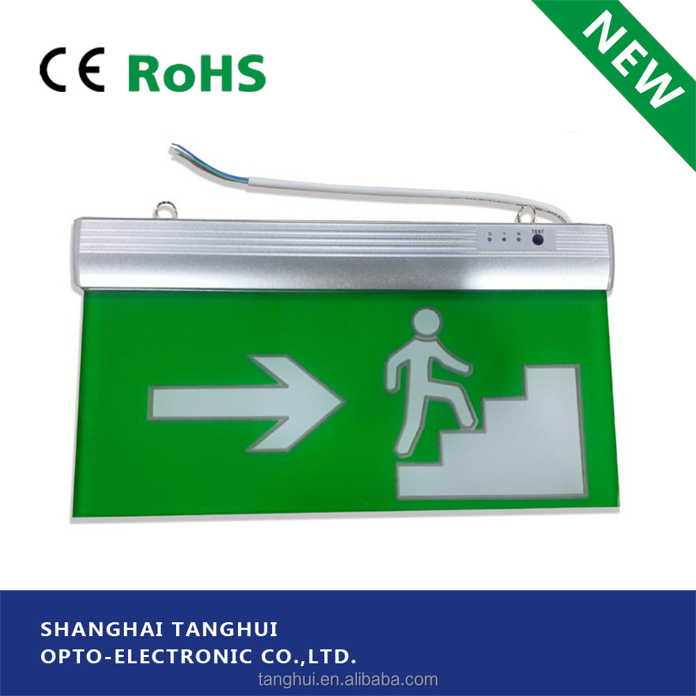 DP LED Emergency Lights CE/EMC/LVD/RoHS 3 Years Warranty 3W Fire Exit Sign Light