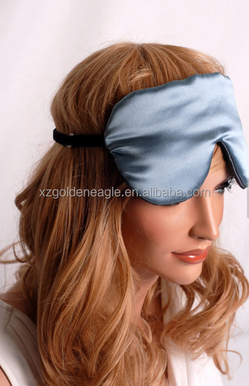 Black Charmeuse Fully Adjustable Sleep Mask
