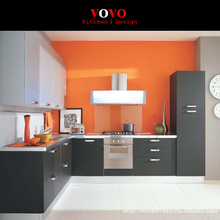Foshan factory high quality black modern lacquer kitchen furniture