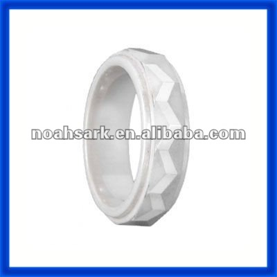 Fashion jewelry hot trendy White Ceramic Ladder Ring TPCR236#