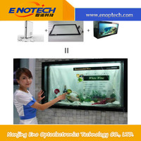 Transparent LCD glass touch screen with USB with animation transparent oled screen