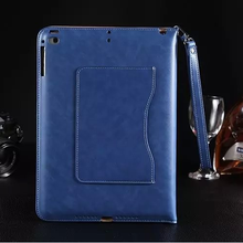 Business smart leather case For ipad air 1 2 for ipad 1 2 3 4 5 6 PU leather card stand cover