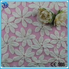 Top quality nylon net mesh Cotton embroidery fancy flower embroidery fabric