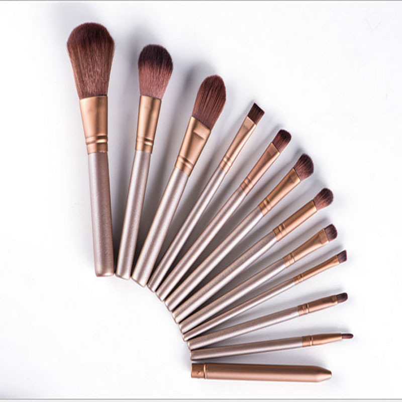 12Pcs Soft Makeup Brushes Woman Professional Wool Hair Super Beauty Cosmetic Kit High Quality Makeup Brush Set ToolBrush16-12pcs