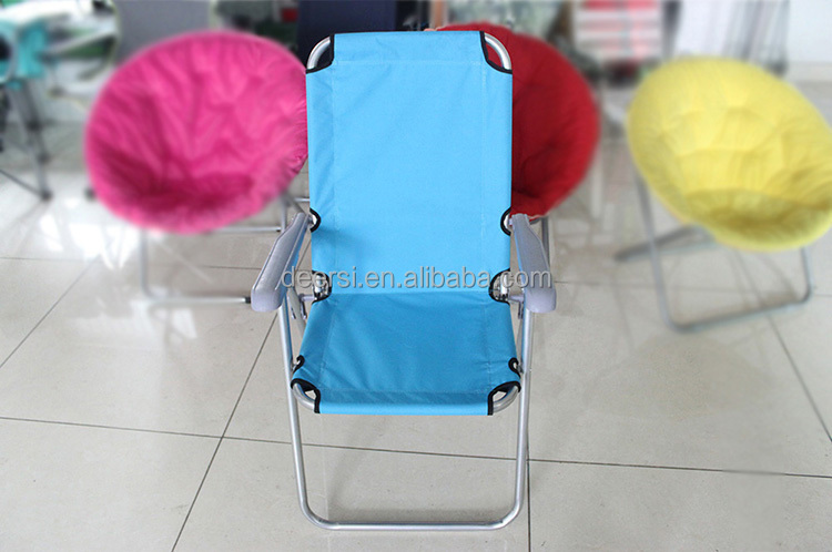 Factory customized steel folding beach chair