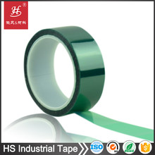 PET Green polyester Single Side Rolled Silicone Adhesive Masking Tape