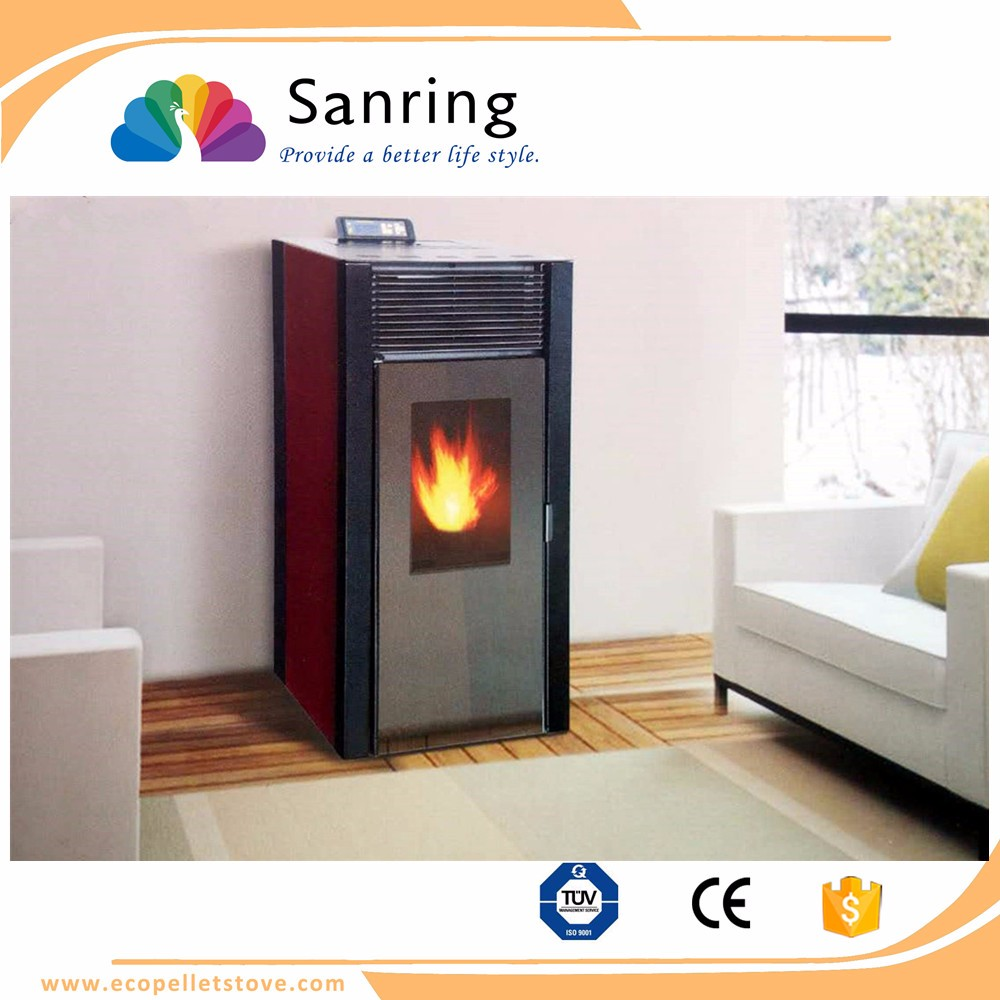 Home appliance pellet stove, vintage fireplace with CE and TUV certificate