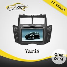 EXCELLENT QUALITY wince 6.0 system car gps navigation touch screen dvd for toyota yaris with backup camera
