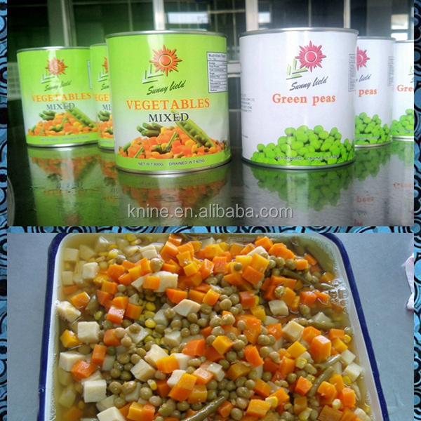Canned mixed vegetables, NEWS NEWS!