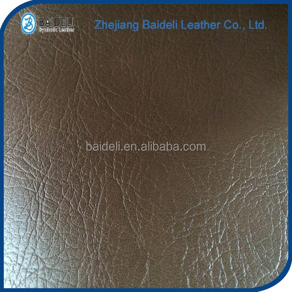 soft hand feeling upholstery pvc synthetic leather with non woven backing