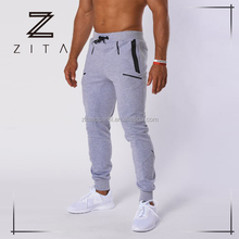 2017 wholesale men custom plain track suits high quality sports training joggers