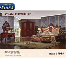 New style Wooden Home deluxe Rococo sexy bedroom furniture