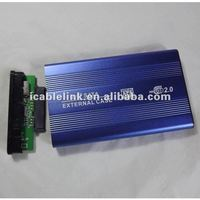 "2.5 inch SATA TO USB 2.0 External Aluminum HDD Enclosure Caddy blue wireless 2.5""hdd enclosure"