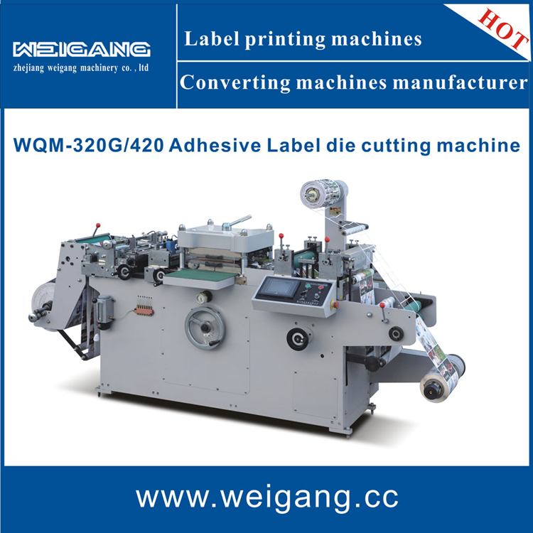 WQM-420 Roll to roll / roll to sheet / label die cutting machine with hot stamping / lamination / punching function