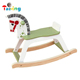 Eco-friendly Wooden Rocking Horse Baby Kids Outdoor Riding Horse Toy