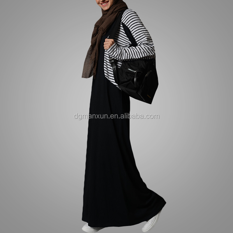 latest abaya design muslim sport clothing casual strip abaya jilbab plus size abaya dress