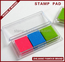non-toxic, transparent kid's toy stamp pad, assorted colors inkpad