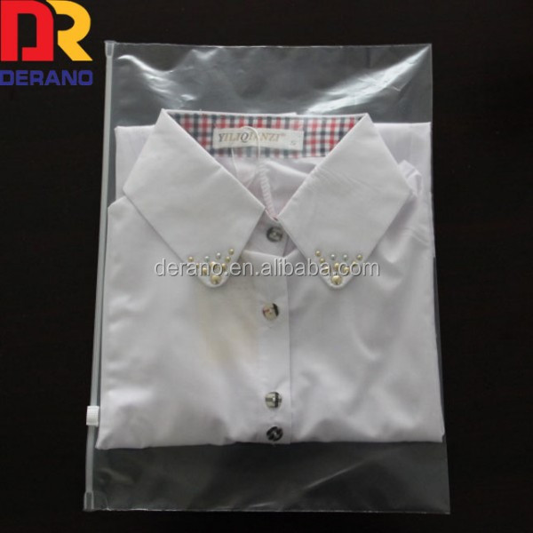 zip lock zipper top frosted plastic bags for clothing,T-shirt,skirt retail packaging customized logo
