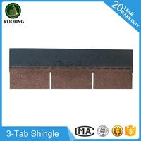 New design 3-Tab fiberglass shingles,bitumen shingles with high quality
