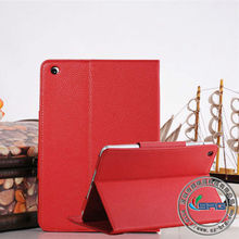 2013 new design real leather cover case for ipad mini pu stand