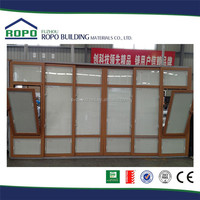 UPVC wood color 6 panels standard sliding glass door size