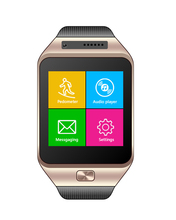 Smart Watch Phone Touch Panel, Syn the Phone,2G GSM Calling Function with camera