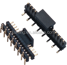 6 pin header connector, single row board spacer with 1.27mm pitch smt type pin header connector with cap reel packing