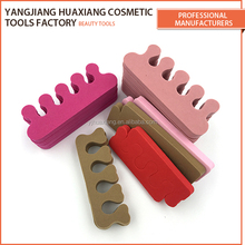 High Quality 10*3.3cm colorful Customized Soft gel eva toe separators