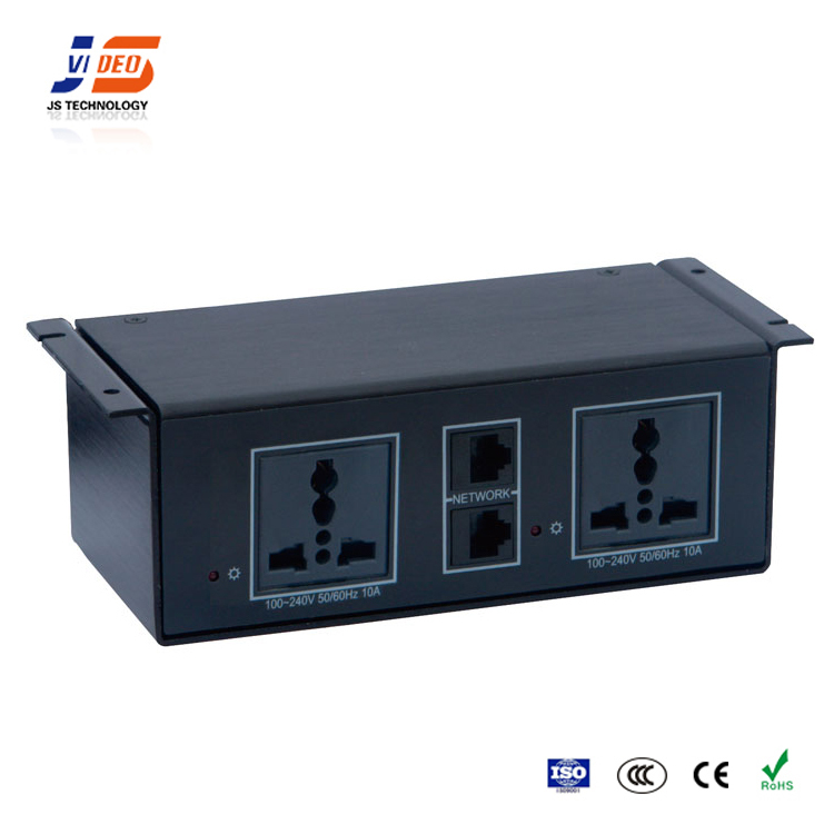 JS-U104 with CE meeting table rj45 electrical multifunctional network socket