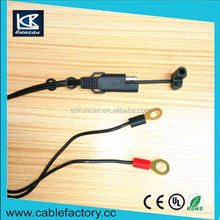 Popular design 2 cores charging cable alligator lead dc cable for car use