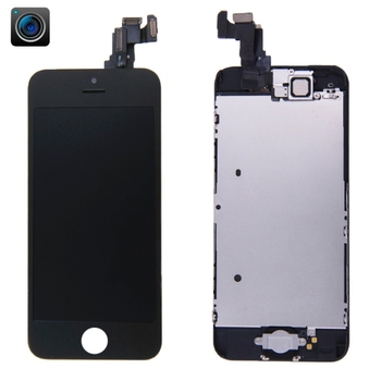 iPartsBuy 4 in 1 for iPhone 5C (Front Camera + LCD + Frame + Touch Pad) Digitizer Assembly(Black)