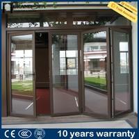 Foshan factory heat and sound insulation waterproof aluminum garden accordion patio doors india style